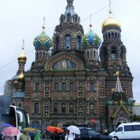 St. Petersburg, Church of Our Savior on the Spilled Blood, site of the 1881 assassination.