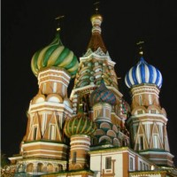 Moscow: St. Basil's at night