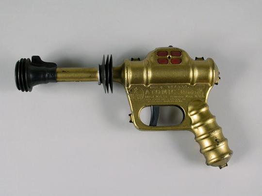 The U-235 Atomic Pistol used by science fiction character Buck Rogers
