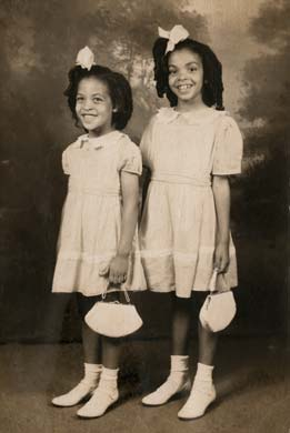 Johnnetta, age 5 (left), and her sister Mavynee Betsch, age 7.