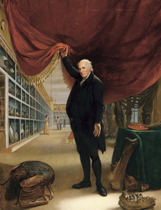 """Charles Willson Peale, """"The Artist in His Museum,"""" 1822, oil on canvas, Courtesy of the Pennsylvania Academy of the Fine Arts, Gift of Mrs. Sarah Harrison (The Joseph Harrison Jr. Collection)"""