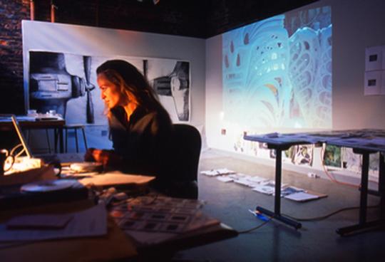 Sculptor Elizabeth Turk, a 2011 recipient of an Artist Research Fellowship.