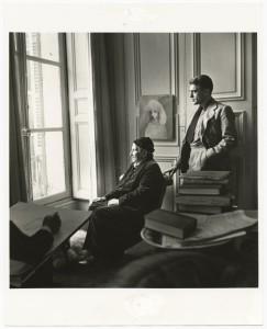 Gertrude Stein wand Horst P. Horst with artis Carl Erickson by Horst P. Horst. Gelatin silver print, 1946. Courtesy of the Horst P. Horst Estate