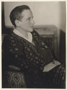 Gertrude Stein by Man Ray. Gelatin silver print, 1927. National Portrait Gallery, Smithsonian Institution, © 2010 Man Ray Trust / Artists Rights Society (ARS), New York / ADAGP, Paris.