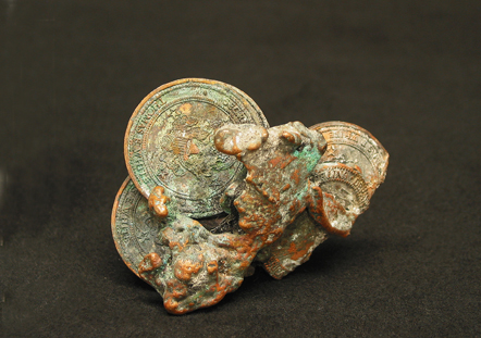 melted coins