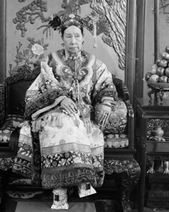 Detail, The Empress Dowager Cixi; China, Qing dynasty, 1903-1904; Glass plate negative; SC-GR 254.
