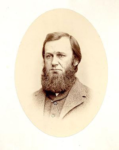 Portrait of Spencer Fullerton Baird (1823-1887), second Secretary (1878-1887) of the Smithsonian Institution. Baird, an ornithologist, arrived in Washington in 1850 to become Assistant Secretary of the Smithsonian Institution, a post he held for 28 years. Upon the death of Joseph Henry, the first Secretary of the Smithsonian (1847-1878), he became Secretary. In this image Baird is facing more forward and only slightly looking to the right. Baird noted in his desk diary that William Bell came to photograph him on January 10, 1867