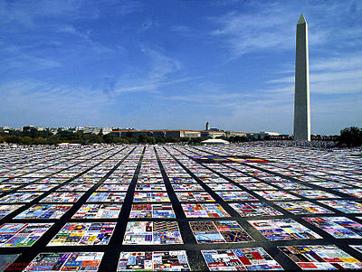 The AIDS Memorial Quilt will unfold at this year's Folklife Festival