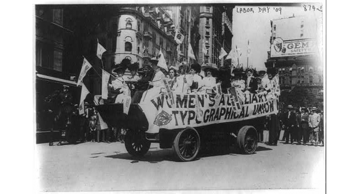 Women on float