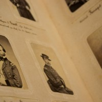 """This Civil-war era photo album of American political and military figures was owned by Karl Schenk, president of Switzerland in 1865 and is part of the photo exhibition to commemorate the 150th anniversary of the Civil War, """"Experience Civil War Photography: From the Home Front to the Battlefront."""" (Photo by Brian Ireley)"""