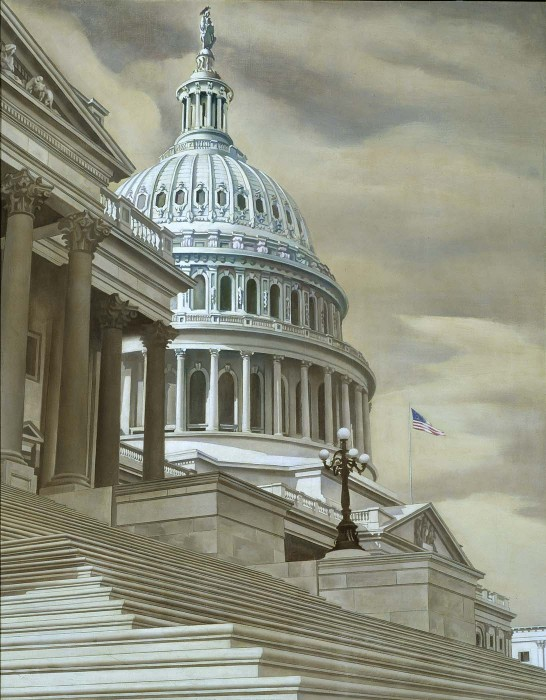 Nation's Capitol, 1943 Charles Sheeler. Smithsonian American Art Museum Transfer from the U.S. Department of State