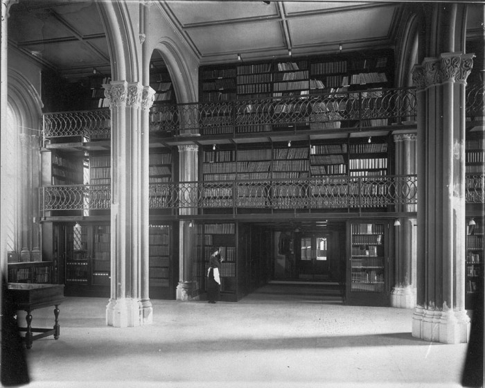"The Library at the east end of Lower Main Hall, now called the Great Hall, of the Smithsonian Institution Building (the ""Castle."")"
