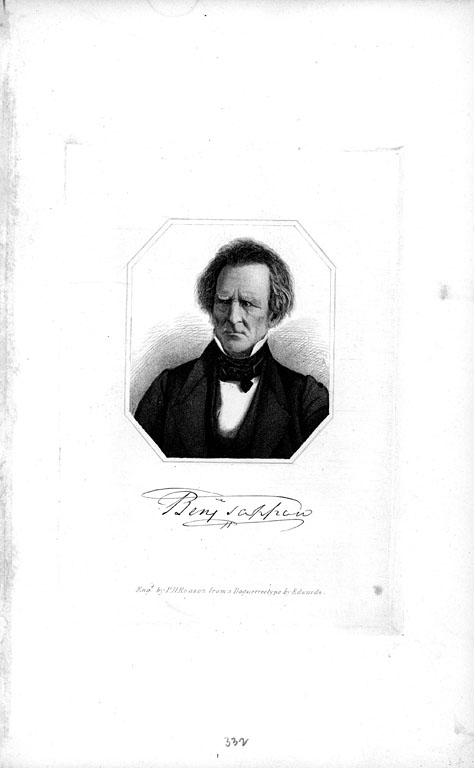 Benjamin Tappan (1773-1857) engraving by P.H. Reason from a daguerreotype by Edwards, ca. 1840s.