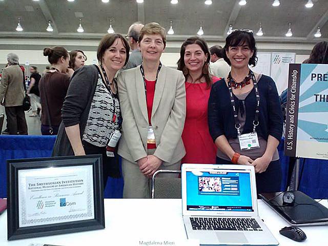 From left, Stacey Mann, Night Kitchen Interactives (website designer), Carrie Kotcho, Lauren Safranek and Magdalena Mieri.
