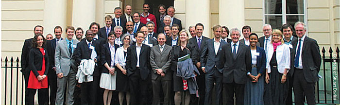 Participants in the international meeting on tropical forests convened at the Royal Society, London. (Photo courtesy of Stuart Davies)