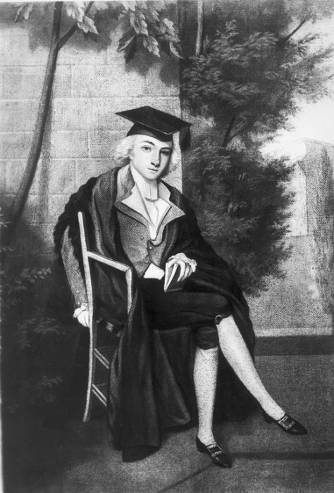 James Smithson 9in cap and gown at Oxford
