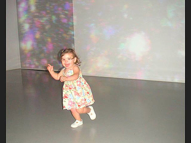 Adina M. shares a shot of a satisfied visitor at the Hirshhorn Museum.