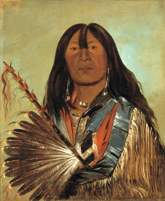 Shón-ka, The Dog, Chief of the Bad Arrow Points Band, 1832 Western Sioux/Lakota. George Catlin.