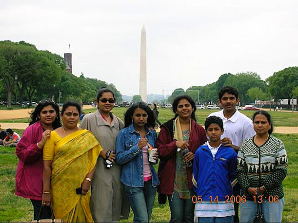 When Mano D. snapped this photo of his kids with their aunt, and cousins visiting from India, he participated in a time-honored tradition of family photos on the Mall.