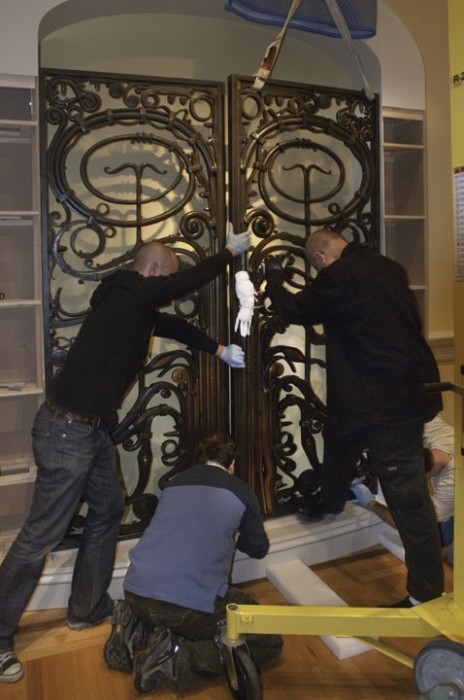 Paley Gates being reinstalled at the Renwick Gallery