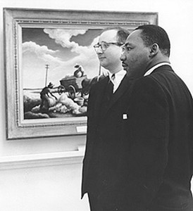 Marvin S. Sadik and the Rev. Martin Luther King, Jr., at Bowdoin College.