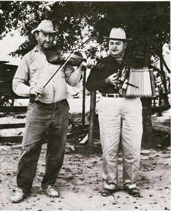 Cajun musicians stage an impromptu concert at the first Festival of American Folklife. (Photographer unknown, as featured in the Torch, July 1967)