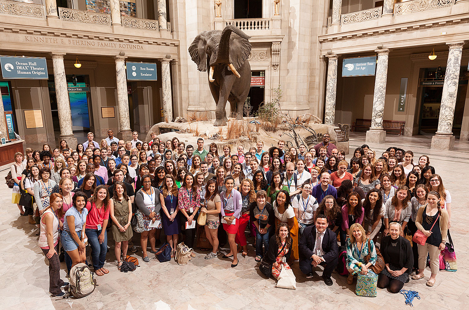 "Smithsonian interns at the annual ""Morning at the Museum"" event at the National Museum of Natural History. (Photo by Donald Hurlburt)"