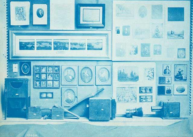 Cyanscope of a photography exhibition by Smithsonian photographer Thomas Smillie, c. 1913