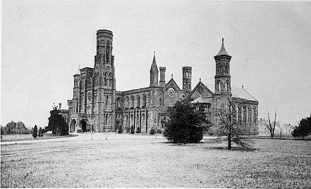 The Smithsonian Institution Building After the Fire, post-January 1865,