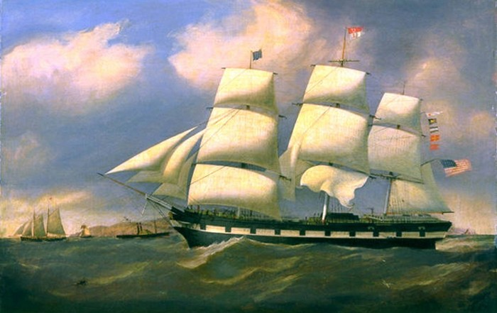"""""""The Mediator"""" oil painting attributed to D. MacFarlane. The painting is owned by the Mariners' Museum in Newport News, Va."""