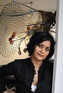 Rina Banerjee (Photo by Chandana Ashe Banerjee via  Art India at http://www.artindiamag.com/)