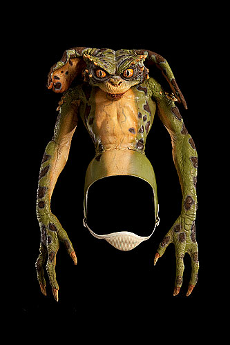 This green model of a gremlin was used in the 1990 live action horror comedy film Gremlins 2: The New Batch, directed by Joe Dante.