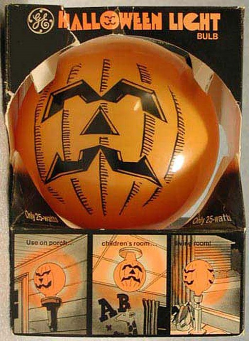 Halloween light bulb in its original packaging.