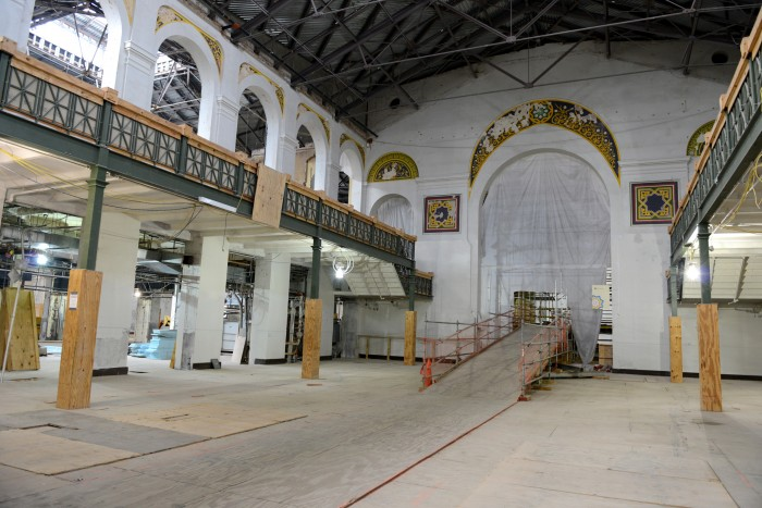 This space, undergoing renovations in the Arts and Industries Building, could be used for future pop-up exhibitions or demonstrations. (Photo by Brendan McCabe, Smithsonian Magazine)