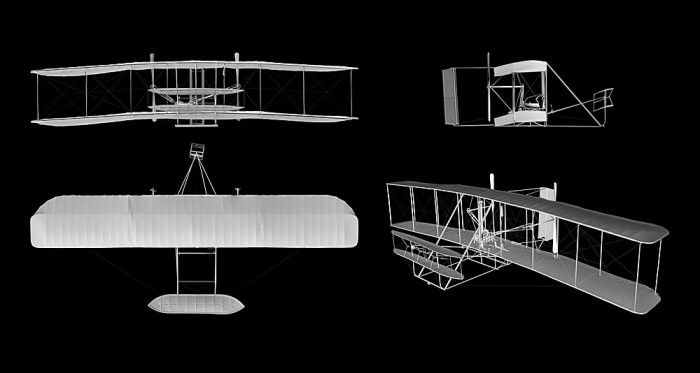 The world's first airplane was built by Wilbur and Orville Wright and flown for the first time in Kitty Hawk, N.C. on Dec. 17, 1903. In addition to making those historic first flights, the Wright Flyer embodies fundamental elements of all subsequent airplanes.