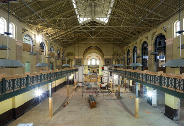 "The renovations to the Arts & Industries Building are helping restore the space so visitors can see the ""bare bones"" of the historic structure. (Photo by Chris  Lethbridge)"