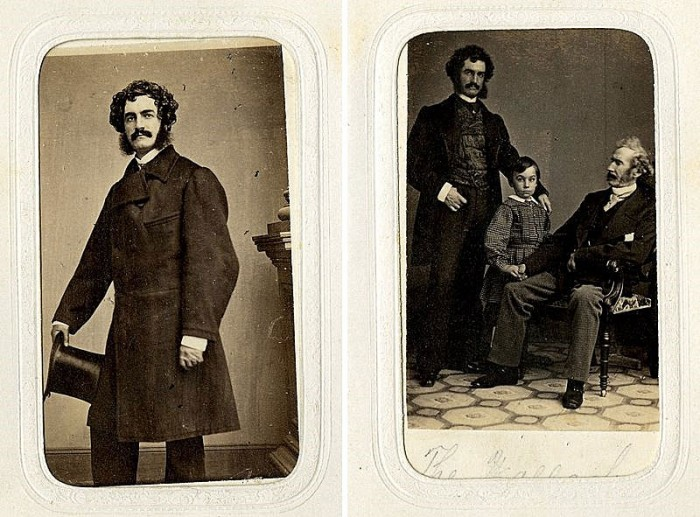 "These photographs are labeled ""Lester Wallack"" and ""three generations of the Wallack family."" The one on the right suggests that great facial hair may have run in the family."
