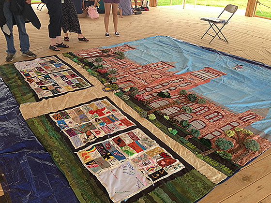 The Smithsonian AIDS Memorial Quilt square on display at the 2012 Folklife Festival on the Mall.