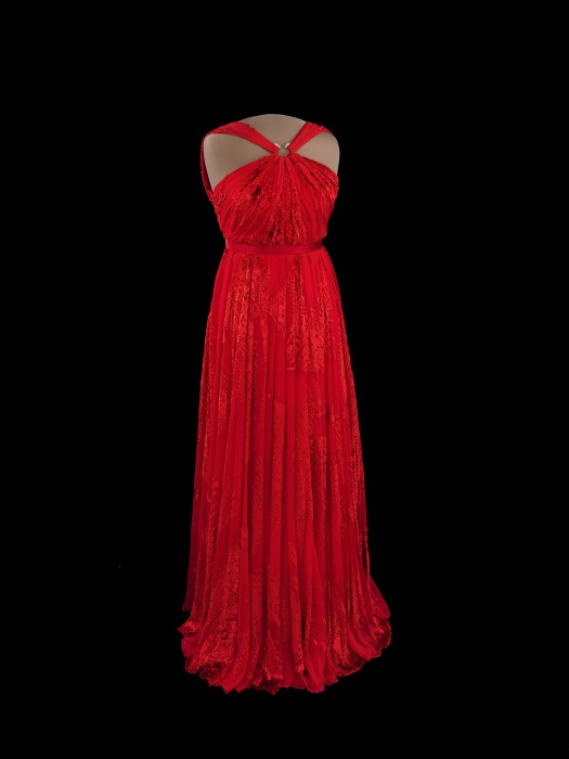 """The Smithsonian's National Museum of American History will display First Lady Michelle Obama's second inaugural gown worn to the January 2013 inaugural balls beginning Jan. 14. This special one-year loan from the White House coincides with the centennial of the First Ladies exhibition at the Smithsonian and the museum's 50th anniversary. The gown will be displayed in the center of the museum's popular exhibition, """"The First Ladies."""" (Photo by Hugh Talman)"""