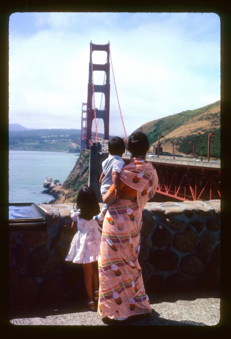 The Sharma family in San Francisco, 1983.  Photo by Prithvi Sharma