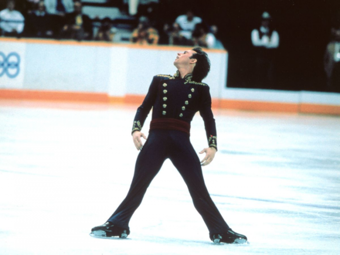 Brian Boitano skating the gold-medal-winning long program at the 1988 Winter Olympic Games in Calgary