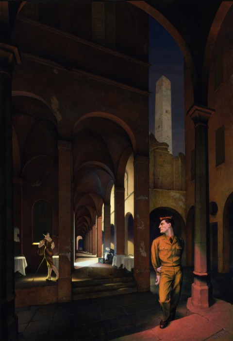 Paul Cadmus, Night in Bologna, 1958, egg tempera, Smithsonian American Art Museum, Gift of the Sara Roby Foundation