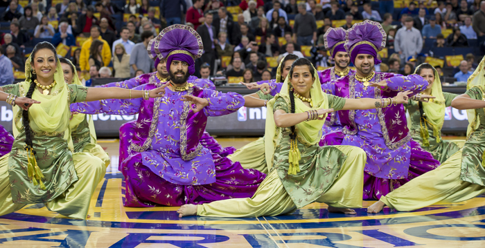 Bhangra Dancers by MP Singh