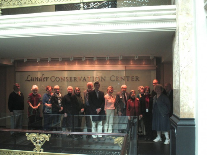 Members of the Smithsonian Alumni Program on a tour of the Lunder Conservation Center at the America Art Museum Feb. 27. (Photo courtesy of Jim Hobbins)