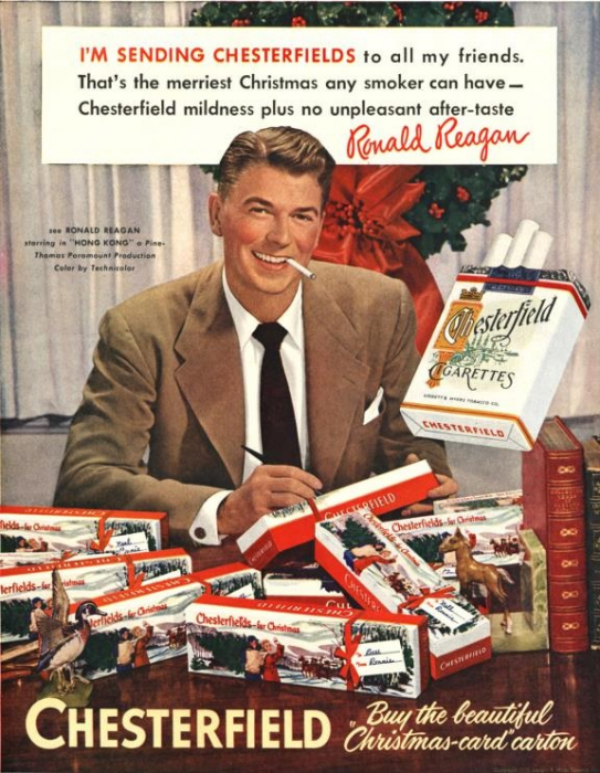 Chesterfield ad with Ronald Reagan