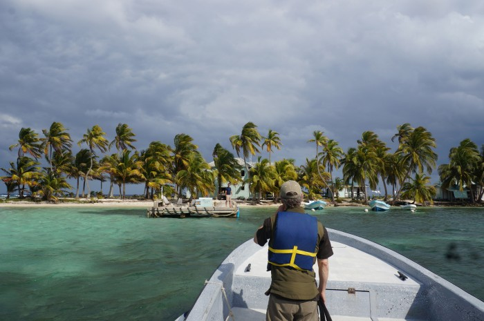 Approaching Carrie Bow Cay. (Photo by John Gibbons)