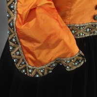 Sleeve detail of Marian Anderson's orange and black ensemble