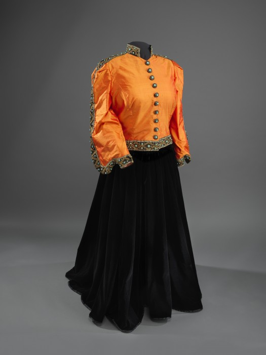 Orange and black outfit worn by Marian Anderson