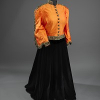 Marian Anderson orange and black concert ensemble