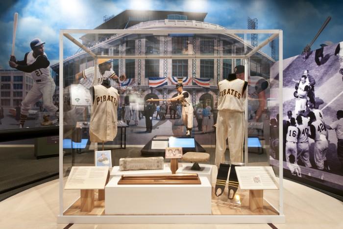 The World Series display at the Senator John Heinz History Center (Photo courtesy of the Center)